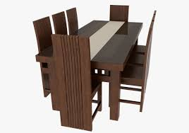 Barnwood Dining Room Tables by Barnwood Dining Table And Chairs 3d Print Model Cgtrader