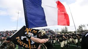 French And American Flags Army Football Team Carries French Flag On Field In Sign Of Support