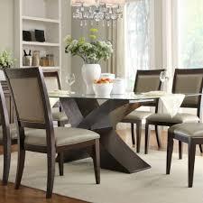 Rectangle Glass Dining Table Homelegance Bering Rectangular Glass Dining Table W X Base