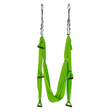 aerial yoga hammock insportline green with mounts and straps