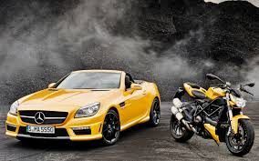 ferrari yellow paint code color matched mercedes benz slk55 amg show car wears ducati