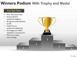 winners podium powerpoint templates