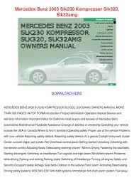 mercedes benz 2003 slk230 kompressor slk320 s by kari mabey issuu