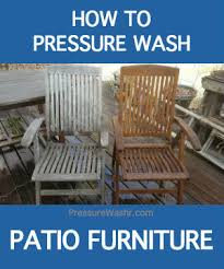 How To Clean Patio Chairs How To Clean Your Outdoor Patio Furniture With A Pressure Washer