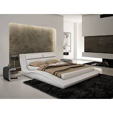 White King Platform Bed Shop J M Furniture Wave White King Platform Bed At Lowes