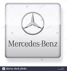 mercedes benz logo as an app icon clipping path included stock