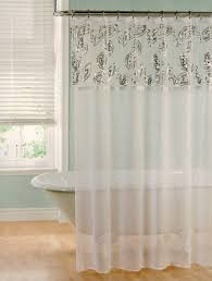 Sheer Shower Curtains Sheer Sequins Shower Curtain White 70x72 7 99 Linen