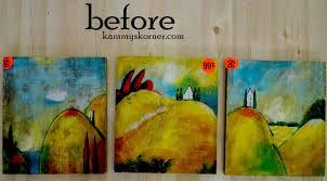kammy u0027s korner reverse color signs on thrifted artwork