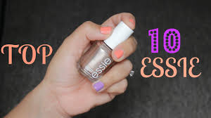 my top 10 essie nail polishes youtube
