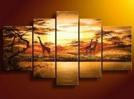 Living Room Art Canvas by Abstract Art African Painting Sunset Painting Canvas Painting