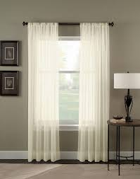 Sheer Panel Curtains Crinkle Voile Sheer Length Curtain Panel