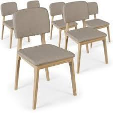 chaise pas cher lot de 6 lot de 6 chaises scandinaves liko tissu beige pas cher achat