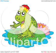 royalty free rf clipart illustration of a cute frog prince on a