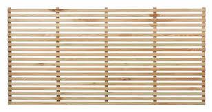 slatted fence panel the garden trellis company