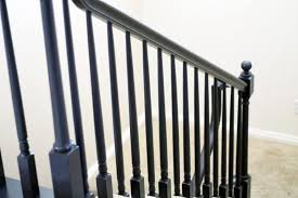 How To Paint A Banister Black Model Staircase The Banister Is Painted Chris Loves Julia Model
