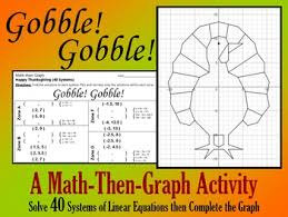 gobble gobble 40 systems of linear equations coordinate