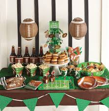 football party decorations green and brown theme football party supplies hobbit party