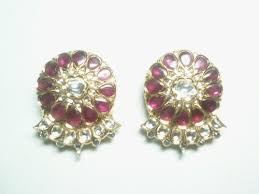 real gold earrings real gold jadau earrings view specifications details of gold