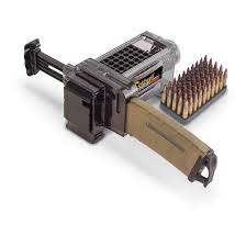 caldwell ar 15 magazine charger with five 50 round plastic ammo
