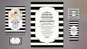 wedding invitations black and white wedding invitation cards black and white striped wedding