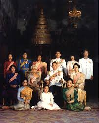 the royal family of thailand photographed in the baisal daksin