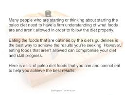 list of paleo diet foods what you can and can u0027t eat on the paleo diet