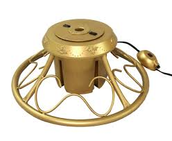 artificial christmas tree stand heavy duty fancy gold metal rotating artificial christmas tree