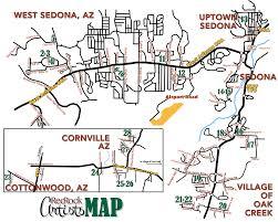 Map Of Sedona Arizona by Red Rock Artists Open Studios Sedona 2016