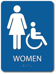 Mens And Womens Bathroom Signs Women U0027s Restroom Signs Alpha Dog Ada Signs