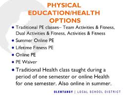 health class online high school olentangy orange high school course scheduling ppt