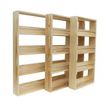 solid pine spice rack holds up to 44 jars 4 tiers amazon co uk