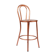Copper Bistro Chair French Bistro Counter Stool W Back