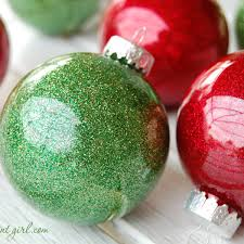 how to make glitter ornaments the ornament market