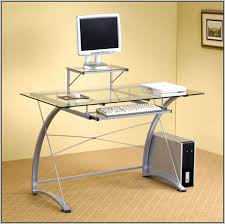 Glass Topped Computer Desk Ikea Glass Top Computer Desk Desk Home Design Ideas
