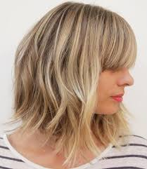 images front and back choppy med lengh hairstyles choppy blonde bob with blunt bangs do pinterest blunt bangs