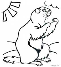 image groundhog colouring pages groundhog coloring pages free