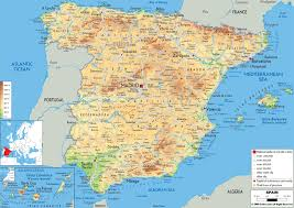 Italy Physical Map by Maps Of Spain Detailed Map Of Spain In English Tourist Map