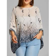 white flowy blouse white graphic plus size chiffon flowy blouse one size 13 82