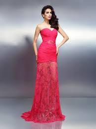 trompete meerjungfrau linie herzausschnitt sweep pinsel zug organza brautkleid mit perlen verziert gestupft gefaltet p708 abendkleider rosa günstige rosa kleider für anlässe
