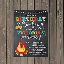 Backyard Birthday Party Invitations Amazon Com Birthday Bonfire And Smores Birthday Party Invitations