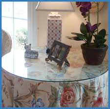 Table Protectors Round Bevel Mirror Table Toppers Glass Tops Direct
