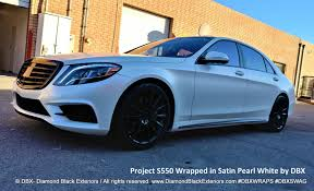 bentley wrapped project 2017 mercedes benz s550 wrapped in satin pearl white