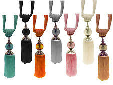 Drapery Tassel Tiebacks Tassel Tie Backs Curtain U0026 Blind Accessories Ebay