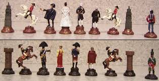 Chess Piece Designs by Chess Set Pieces Hand Painted Pewter Battle Of Waterloo Napolean