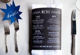 spring wedding table setting menu place card jpg