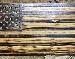 wooden flag wall wood american flag etsy