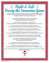 gift exchange u0026 left frosty snowman game pat 75