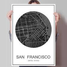 san francisco map painting sale san francisco world city map modern poster painting