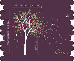 blossom tree birds wall stickers vinyl decal nursery baby