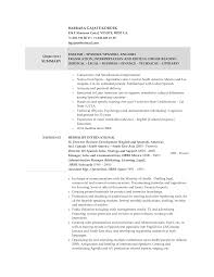 Medical Objective For Resume Spanish Interpreter Resume Sample Resume For Your Job Application